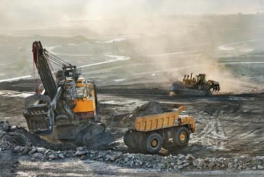 在煤矿的老机器